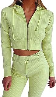 Herfst en Winter Dames Mode Pak Hooded Effen Kleur Lange mouwen Slim Vest Jas Broek Sport en Leisure Pak Tweedelige Vrouwen