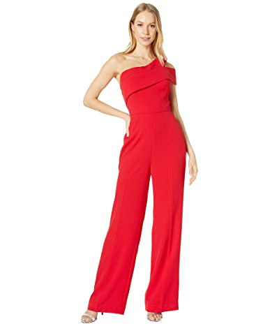 BCBGMAXAZRIA One Shoulder Jumpsuit (Burnt Red) Women