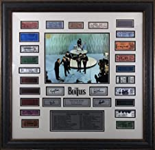 Beatles Framed 1964 Replica Ticket Collage with Laser Signatures