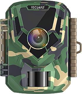 TOGUARD Cámara de Caza 16MP 1080P Cámara de Vigilancia a Prueba de Agua, con 120°Gran Angular Visión Nocturna Cámara de De...