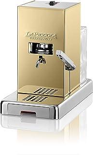 LUCAFFÈ La Piccola Gold Machine à café pour dosettes E.S.E. dimensions 28x16x31 machine à café dosettes papier doré, basse...