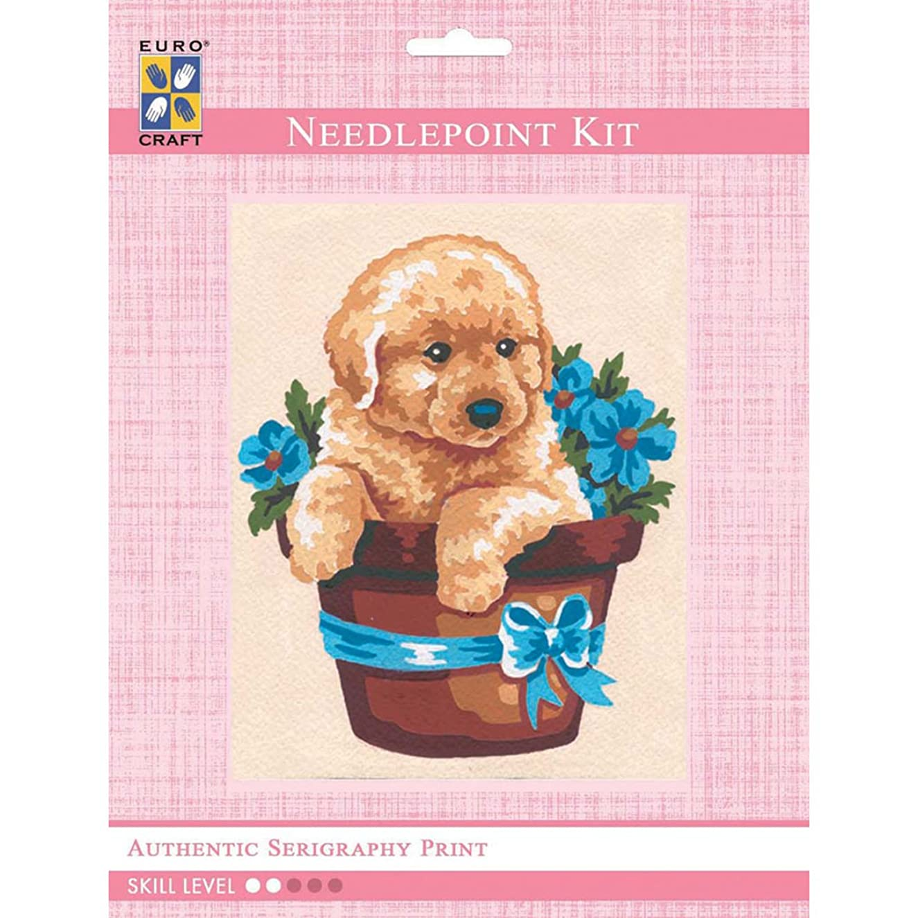 Needleart World Puppy in Flower Pot Tapestry Kit