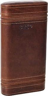 """Custodia box per sigarette""""Bill"""" di Gusti Leder studio sigari scomparto in cedro accedino marrone scuro 2T14-22-6"""