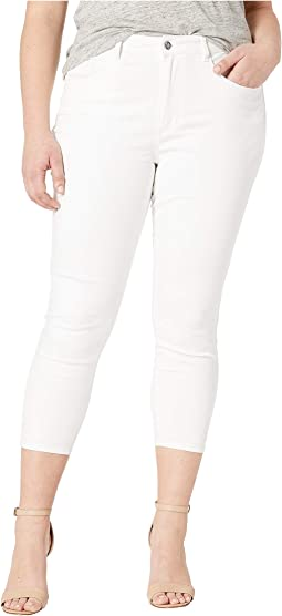 Plus Size Heartbreaker Capris Crop in White