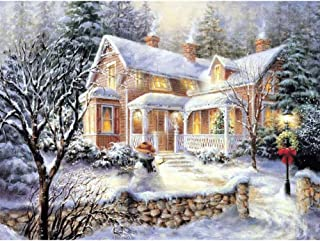 HuaCan Diamond Painting Kits - DIY 5D Winter Scenery Full Square Drill Crystal Rhinestone Embroidery Pictures Arts Craft for Home Wall Decor 30x40cm