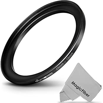 Fotodiox Metal Step Up Ring Anodized Black Metal 49mm-55mm 49-55 mm