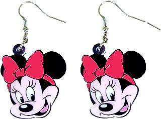 Row/_120cc Moda de Plata esterlina Stud Pendientes Estudiante Princesa Mickey Mouse Chica hipoalerg/énica Ni/ños de Dibujos Animados Ni/ños Pendientes