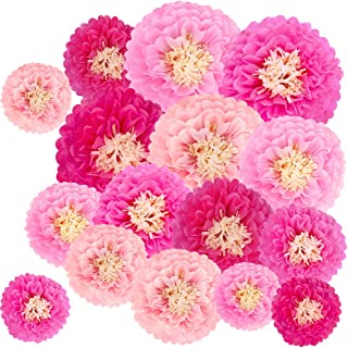 large pink paper flowers