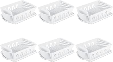 Sterilite 06418006 Large 2-Piece Sink Set, White, 6-Pack