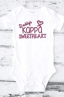 Daddy's Kappa Sweetheart kappa alpha psi Greek baby shower gifts Greek gift ideas embroidered omega man Legacy
