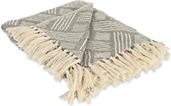 DII Transitional Basketweave Woven Throw, 50x60, Gray