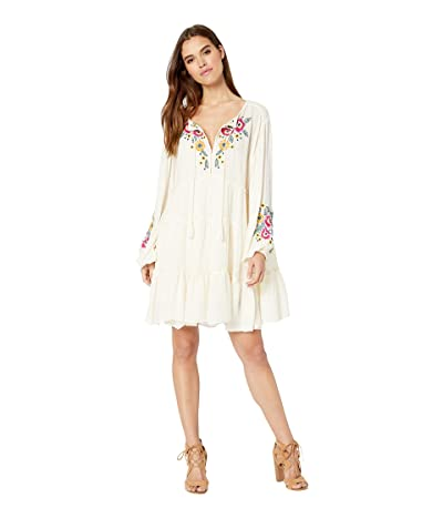 Free People Spell on You Embellished Mini Dress (Neutral) Women