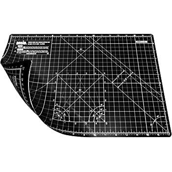 ANSIO Schneidematte selbstheilend A3 Doppelseitige 5 Schichten -Steppen, Nähen, Scrapbooking, Stoff & Papercraft - Imperial/Metric 17 Zoll x 11 Zoll / 42 cm x 27 cm - Schwarz/Schwarz