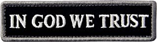 EmbTao in GOD We Trust Embroidered Tactical Morale Fastener Hook&Loop Patch - Black & White