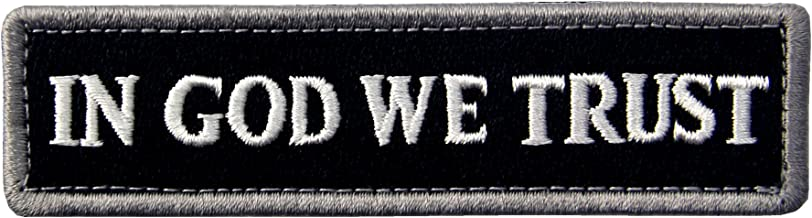 in god we trust velcro patch