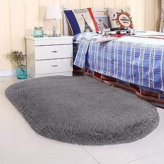Noahas Ultra Soft 4.5cm Velvet Bedroom Rugs Kids Room Carpet Modern Shaggy Area Rugs Home Decor 2.6' X 5.3', Gray