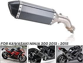 KIMISS 1 Juego de Accesorios de Montaje Tubo de ventilaci/ón Delantero de Escape para Ninja 250//300 2013-2017