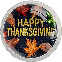 Ladeknop Pull Handle 4 stuks Crystal Glass Cabinet lade trekt kast knoppen, Happy Thanksgiving Day Concept als een groep