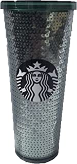 Starbucks 2017 Holiday Green Sequin Venti 24Oz Cold Cup Tumbler