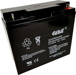 12 Volt 20 Amp Lead Acid Battery Replaces UB12200 FM12200 6fm20 EXP12200 12V 20AH 22AH Battery by Casil CA12200