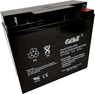 Casil 12V 20AH Lead Acid Battery Replaces UB12200 FM12200 6fm20 EXP12200 12V 20AH 22AH Batteries
