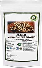 R V Essential Organic Ashwagandha Powder 200gm/ 7.05oz/ 0.44lb- Withania Somnifera Ashwagandha Root Powder USDA Organic Certified Ayurvedic Herbal Supplement in Resealable and Reusable Zip Lock Pouch
