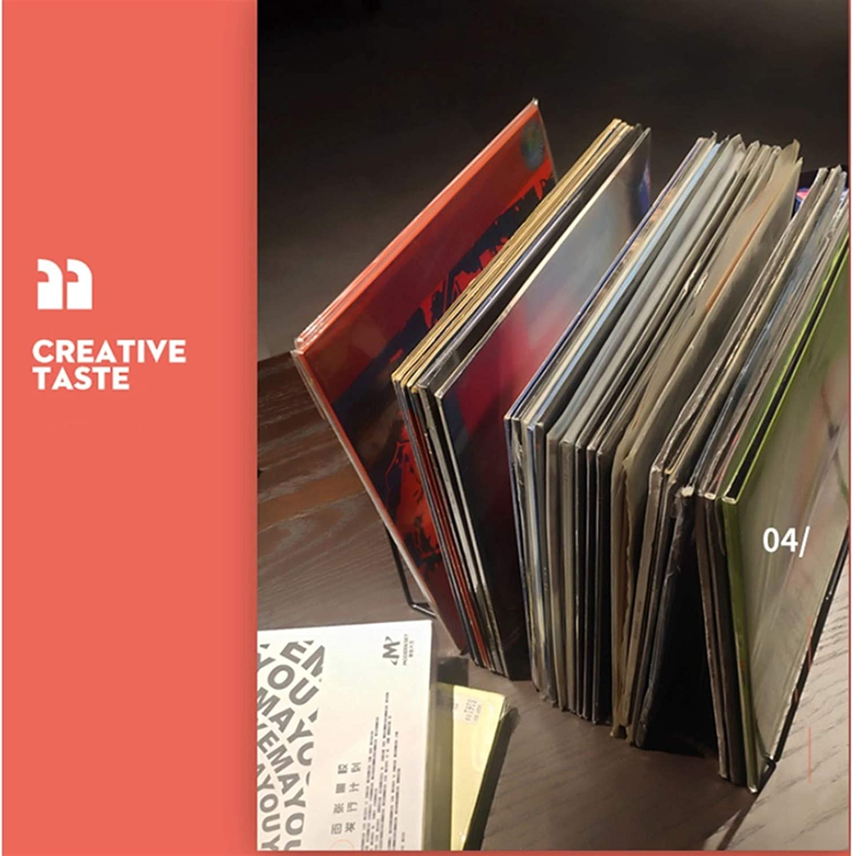 Tiene Alrededor de 30 LPs Rack Cafeter/ía Libro Casa Club Negro Hierro Forjado de Almacenamiento del Disco de Vinilo Nai-storage Multicapa LP de Almacenamiento en Rack