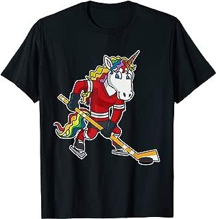 Unicorn Hockey Kids Girls Women Gift T-Shirt