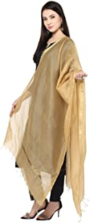 Dupatta Bazaar Women's Silk Dupatta With Golden Border