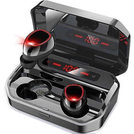 【2021年度版 】Bluetooth イヤホン 完全ワイヤレスイヤホン ブルートゥースイヤホン3500mAh充電ケース付き イヤフォン本体7時間再生/合計200時間再生 Hi-Fi 高音質 最新Bluetooth5.0+EDR搭載 3Dステレオサウンド AAC対応 ノイズキャンセリング機能 自動ペアリング LEDディスプレイ残量表示 良いフィット感 片耳/両耳モード切替 音量調整可能 IPX7防水 PSE/技適認証済