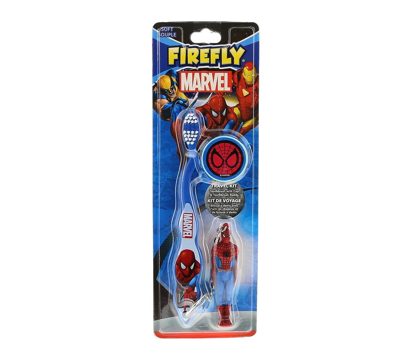 下るカニ名目上のMARVEL HEROES フィギュア付き 歯ブラシ スパイダーマン