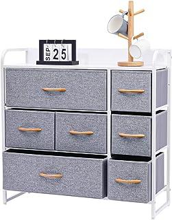 Kamiler 7-Drawer Dresser, 3-Tier Storage Organizer, Tower...