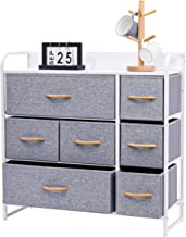 Kamiler 7-Drawer Dresser, 3-Tier Storage Organizer, Tower Unit for Bedroom, Hallway, Entryway, Closets - Sturdy Steel Fram...