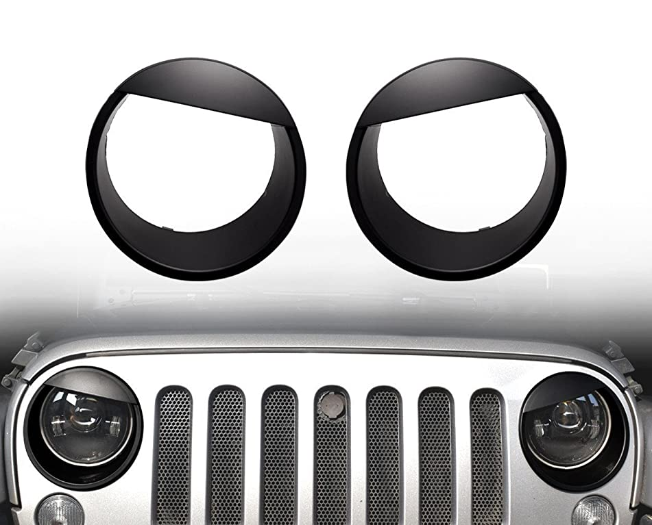 Eagle Lights Jeep Wrangler Angry Eyes Headlight Rings