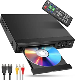 DVD Player with HDMI for TV All Region Free, ARAFUNA Small Mini DVD Player for TV , HDMI &AV Output , USB Input (Remote Co...