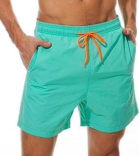 SILKWORLD Men`s Swim Trunks Quick Dry Beach Shorts with Pockets