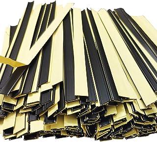 Lomodo 200 Pack Peel and Stick Tin Ties Coffee Bag Tin Ties Tea Bag Sealing Strip Plastic Sealing Strips,5.5 Inches, Black