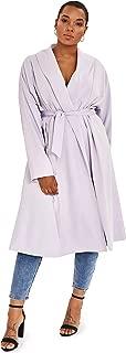 LEO & LIN Plus Size Womens Collar Coat