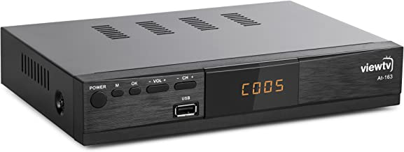 ViewTV ATSC Digital Converter Box for TV, HDMI Cable Recording PVR Function Output USB LED Timer Display AT-163