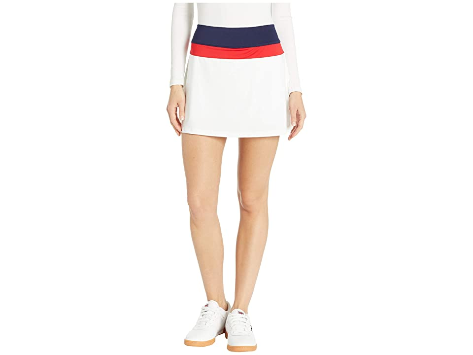 Fila Heritage Color Block Skort (White/Navy/Chinese Red) Women