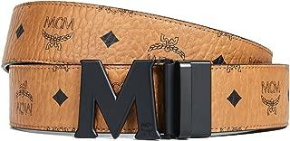 MCM Men's Matte M Buckle Reversible Belt
