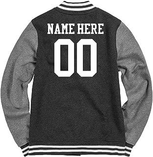 Customized Girl Personalized Women's Varsity Jacket: Ladies Fleece Letterman Varsity Jacket