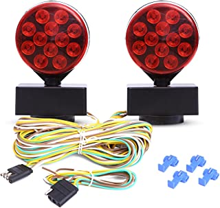 CZC AUTO 12V LED Magnetic Towing Light Kit for Boat Trailer RV Truck -Magnetic Strength 55 Pounds