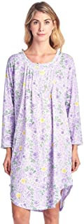 Sponsored Ad - Casual Nights Women's Round Neck Long Sleeve Lace Floral Nightgown