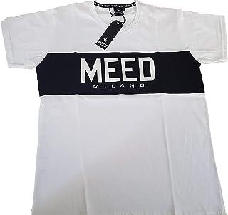 Meed Milano T-Shirt Uomo Maglietta a Maniche Corte Logo colorato