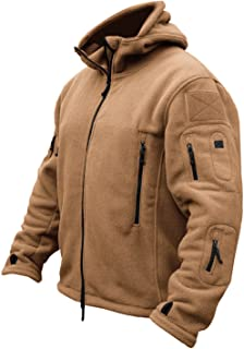 TACVASEN Windproof Men's Military Fleece Combat Jacket Tactical Hoodies