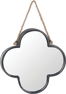 Skalny Clover Shaped Metal Mirror, 12.25 x 1.75, Bronze