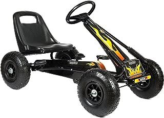 Bopster- Coche De Pedales Go-Kart con Ruedas Hinchables 5-8 Años- Llamas