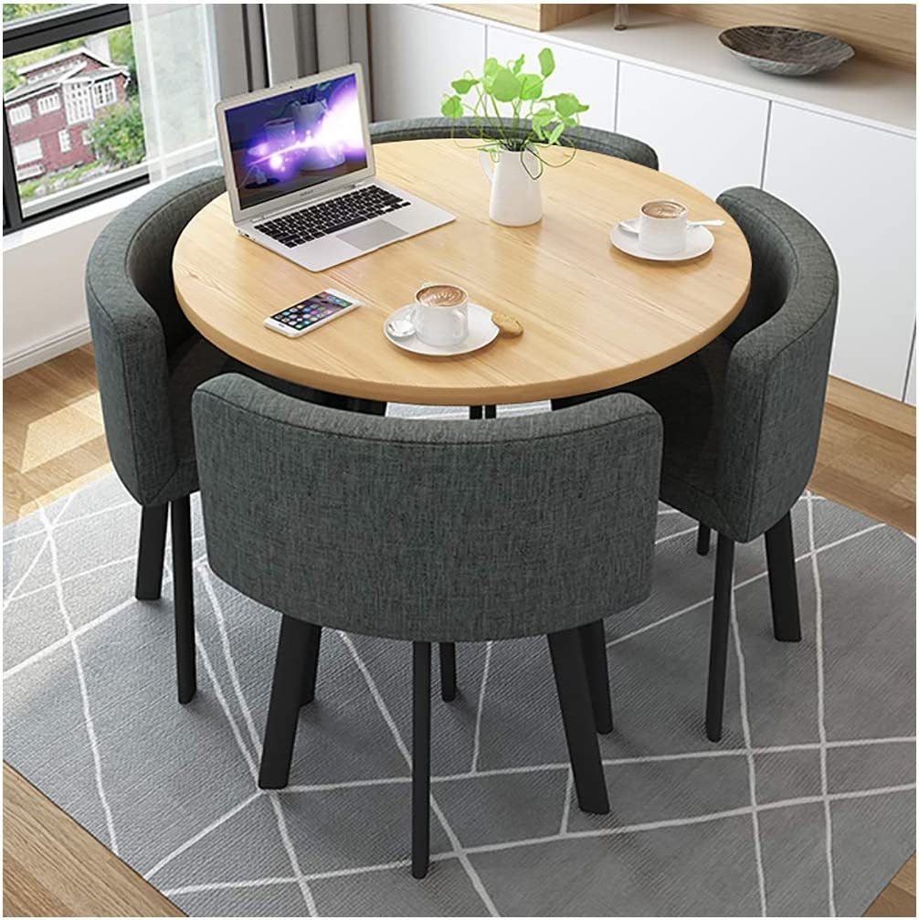 Round Cafe Table And Chair Combination Set Modern Kitchen ...