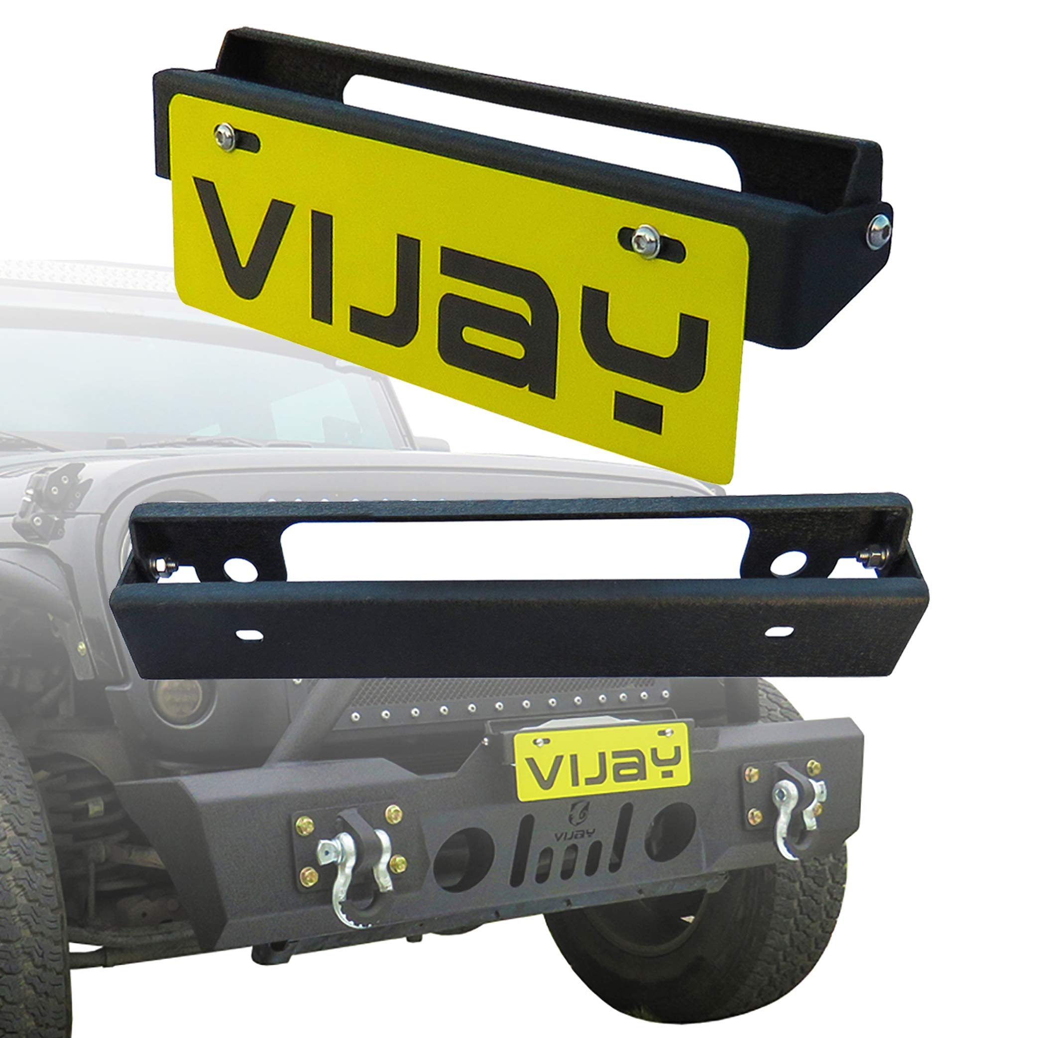 Tuffy 333-01 Flip-Up License Plate Holder for Winch W//Hawse Fairlead 01-Black